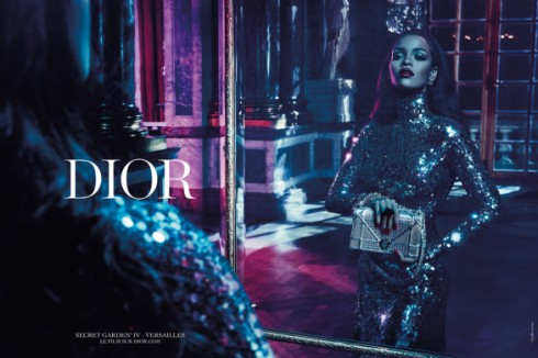 Rihanna's Secret Garden IV campaign for Dior, shot by Steven Klein.